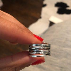 James Avery Jewelry - Stacked hammered James Avery ring